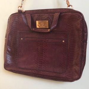 Rebecca Minkoff Purple Snakeskin Laptop Bag